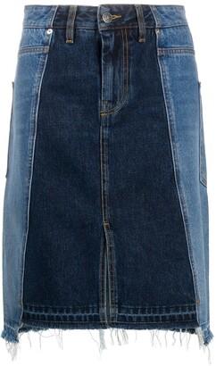 Diesel Reconstructed Denim Skirt