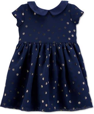 Carter's Carter Baby Girls Crepe Glitter Dot Dress