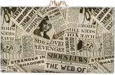Charlotte Olympia Gazette print clutch