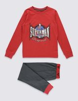 Marks and Spencer Cotton Rich SupermanTM Pyjamas (6-16 Years)