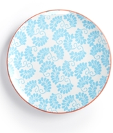Certified International Chelsea Collection Red Beehive/Aqua Dessert Plate