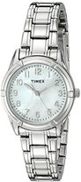 Timex Women's TW2P760009J City Collection Analog Display Quartz Silver Watch