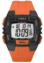 Timex Men-s T49902 Expedition Rugged Wide Digital Chrono Alarm Timer Black Case Orange Resin Strap Watch