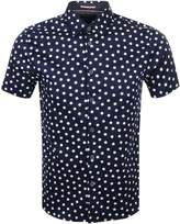 Ted Baker Short Sleeved Liklak Spot Shirt Navy