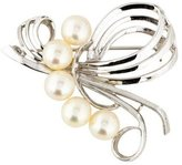 Mikimoto Pearl Flourish Brooch