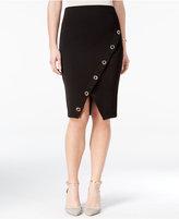 Amy Byer Juniors' Asymmetrical Grommet Pencil Skirt