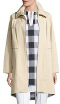 Misook Ruched-Collar Trench Jacket