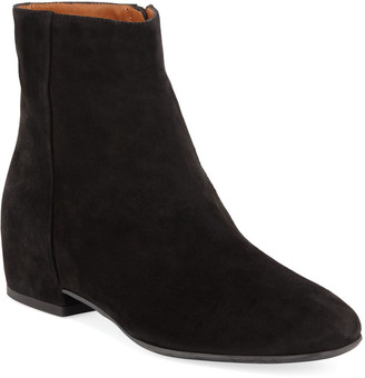 Aquatalia Ulyssa Waterproof Suede Ankle Boots with Hidden Wedge