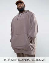 Puma PLUS Distressed Oversized Hoodie In Brown Exclusive To ASOS 57530602