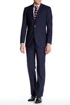 English Laundry Mini Gingham Two Button Peak Lapel Wool Suit
