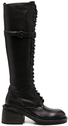 Ann Demeulemeester Knee-Length Lace Boots