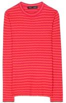 Proenza Schouler Striped Silk And Cashmere Top