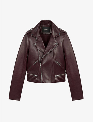 Maje Basalti leather biker jacket