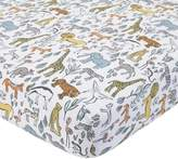 DwellStudio Dwell Studio Safari Animal Print Fitted Crib Sheet, Gray/Yellow/Orange