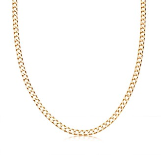 Missoma Lucy Williams Gold Flat Curb Chain Necklace