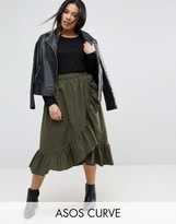 Asos Skirt In Cotton With Ruffle Hem