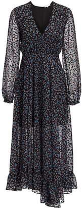 Maje Revana Printed Midi Dress