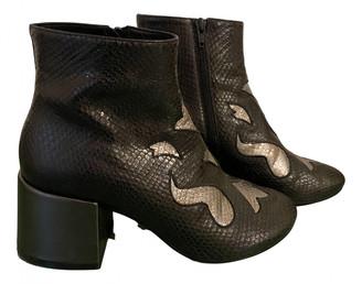 Maison Margiela Black Water snake Boots