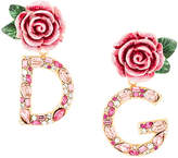 Dolce & Gabbana rose drop earrings