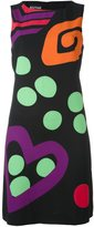 Moschino contrast abstract print dress