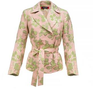 Andreeva Pink Jacquard Floral Jacket