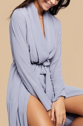 Negative Underwear Icon Robe in Slate
