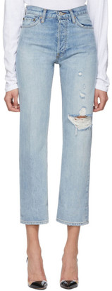 RE/DONE Blue 90s Loose Straight Jeans