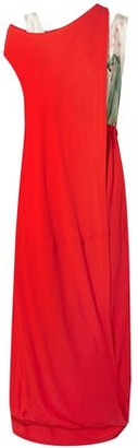 Marni Layered Jersey And Printed Satin Maxi Dress