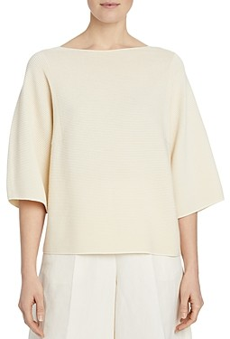 Lafayette 148 New York Feminine-Sleeve T-Shirt