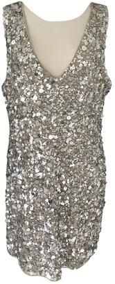 Walter Baker Silver Glitter Dress for Women