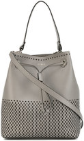 Furla Stacy laser cut bucket tote - women - Leather - One Size