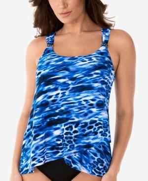 Miraclesuit Lynx Lazuli Dazzle Tankini Swim Top Women's Swimsuit