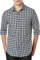 Perry Ellis Tonal Checked Sportshirt