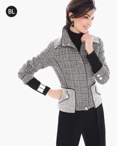 Chico's Coated Tweed Jacket