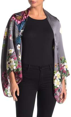 Ted Baker Melisa Oracle Floral Print Silk Cape Scarf