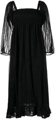 Baum und Pferdgarten Square-Neck Textured Dress