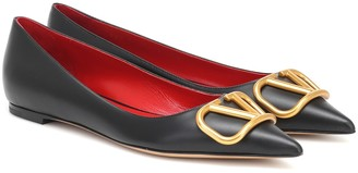 Valentino VLOGO leather ballet flats