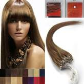 Hope 16'' Straight Loops Micro Ring Beads Tipped Human Hair Extenions 100S 12 Light Brown Women Beauty Hairsalon Style Design 0.4g/s
