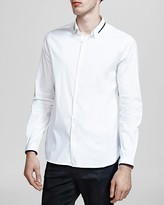 The Kooples Stretch Paper Popeline Button-Down Shirt - Slim Fit