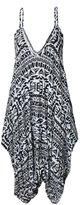 Friendz Trendz-Women's Italian Drape Jumpsuit Cami Strappy Lagenlook Baggy Harem Playsuit (8-10, )