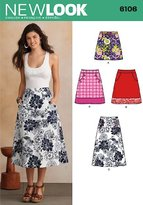 New Look 6106 Size A 10/12/14/16/18/20/22 Misses Skirts Sewing Pattern, Multi-Colour