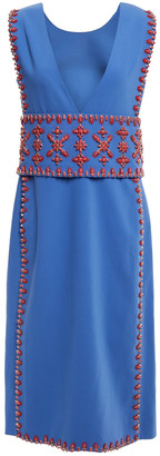 Tory Burch Bead-embellished Woven Midi Dress