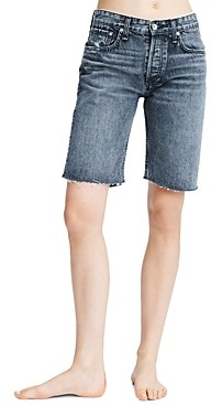 Rag & Bone Rosa Cotton Bermuda Shorts in Clean Black Denim