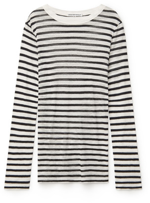 Alexander Wang Striped Slub Jersey Tee
