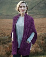 Carraigdonn Carraig Donn Ladies Merino Wool Wrap, Made in Ireland, 100% Pure Irish Wool