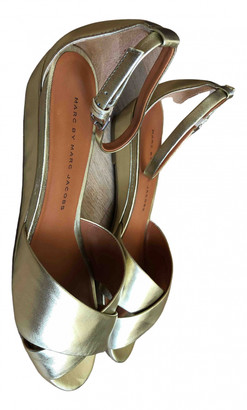 Marc by Marc Jacobs Gold Leather Sandals
