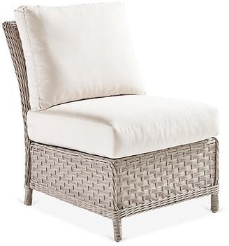 Mayfair Armless Chair - Gray/Canvas - South Sea Rattan