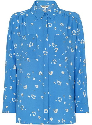 Whistles Watercolour Animal Blouse