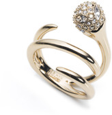 Alexis Bittar Encrusted Sphere Coiled Cocktail Ring