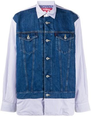 Junya Watanabe Man X Levi's Denim Shirt Jacket Hybrid